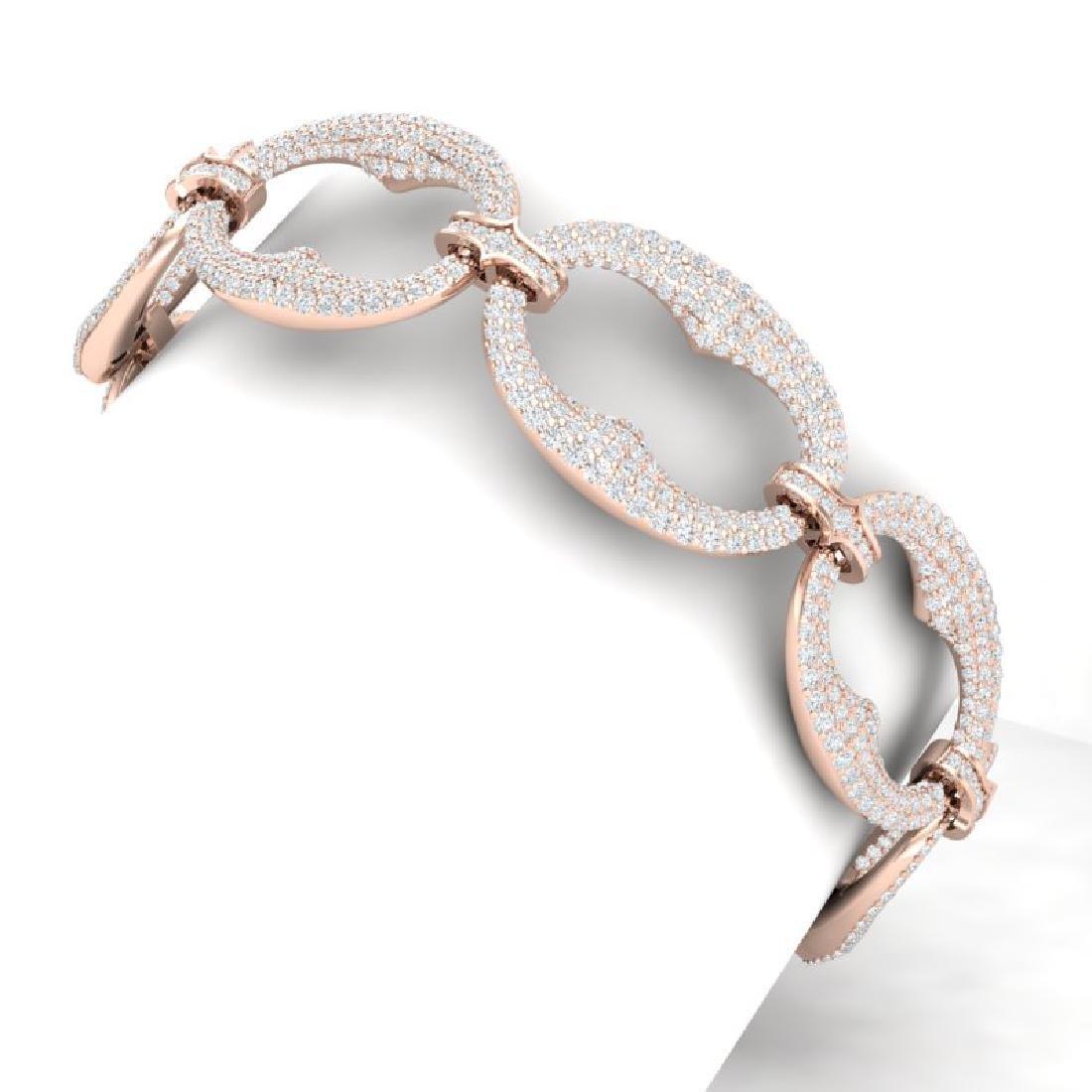 10 CTW Certified VS/SI Diamond Bracelet 18K Rose Gold