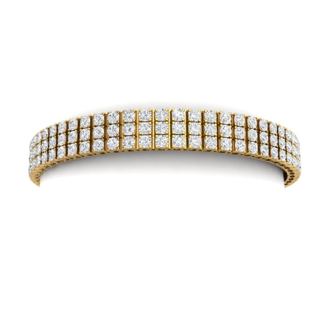 12 CTW Certified SI/I Diamond Bracelet 18K Yellow Gold
