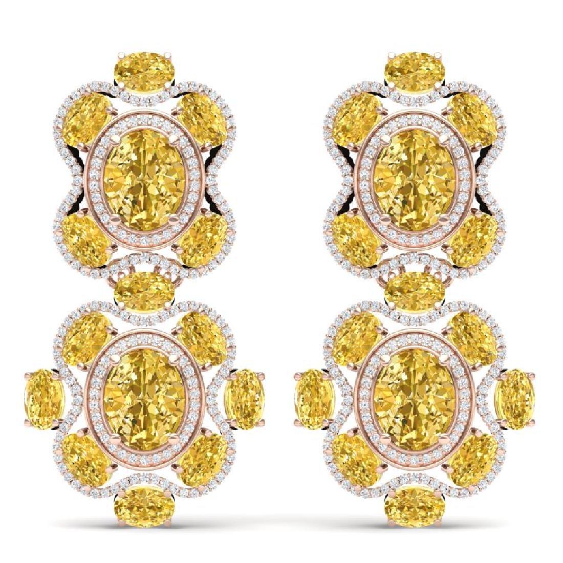 29.21 CTW Royalty Canary Citrine & VS Diamond Earrings