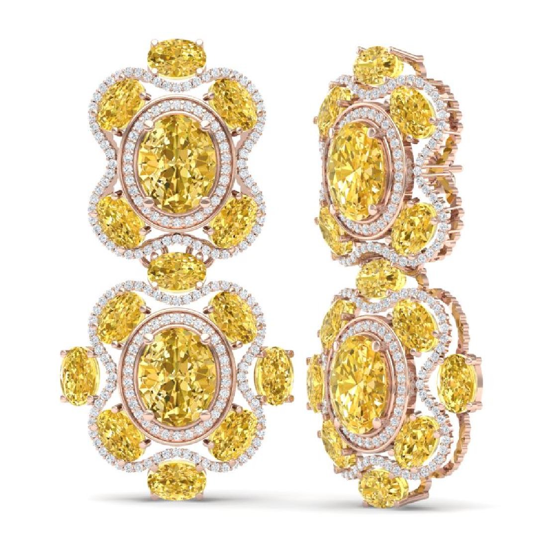 29.21 CTW Royalty Canary Citrine & VS Diamond Earrings - 3
