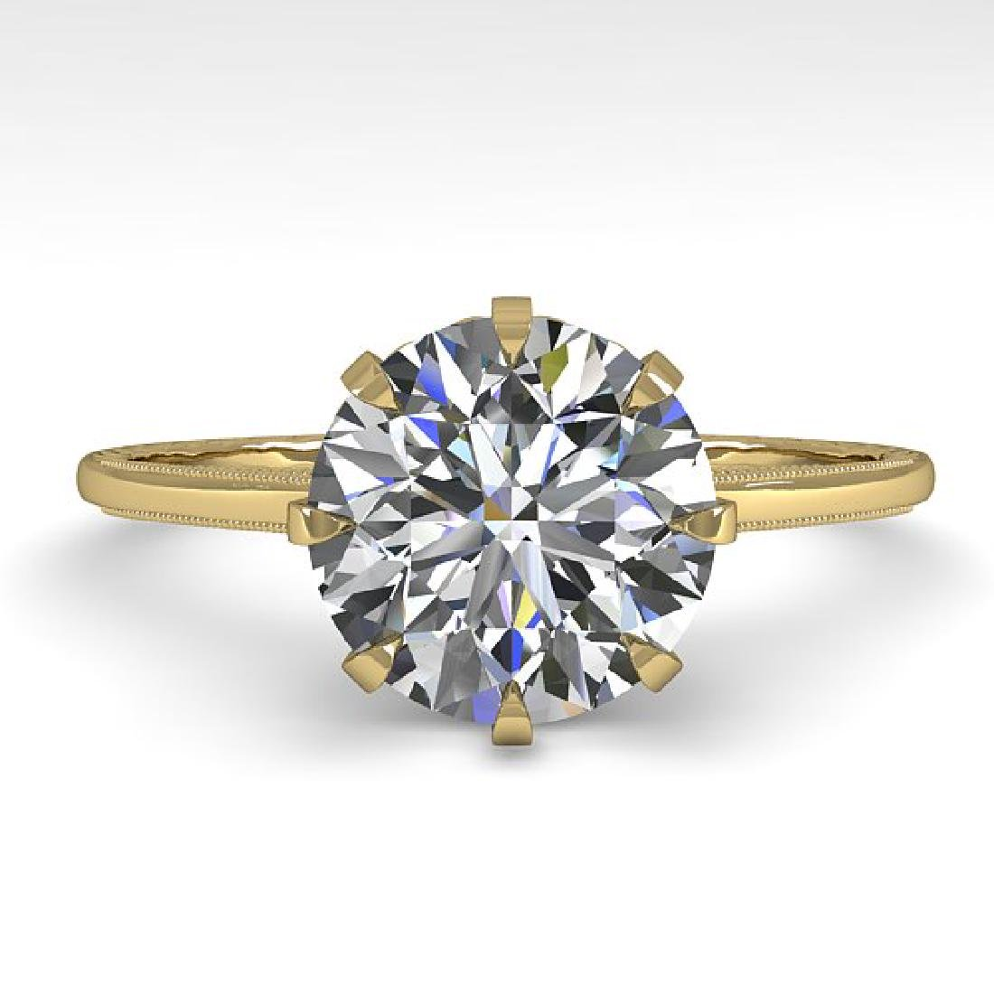 2.03 CTW Certified VS/SI Diamond Engagement Ring 14K