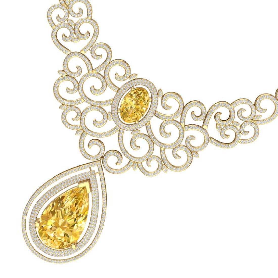 73.43 CTW Royalty Canary Citrine & VS Diamond Necklace