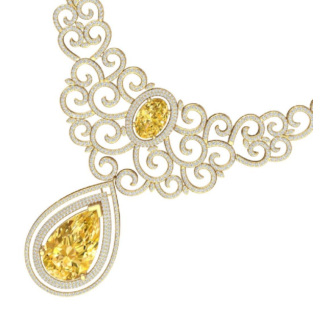 73.43 CTW Royalty Canary Citrine & VS Diamond Necklace