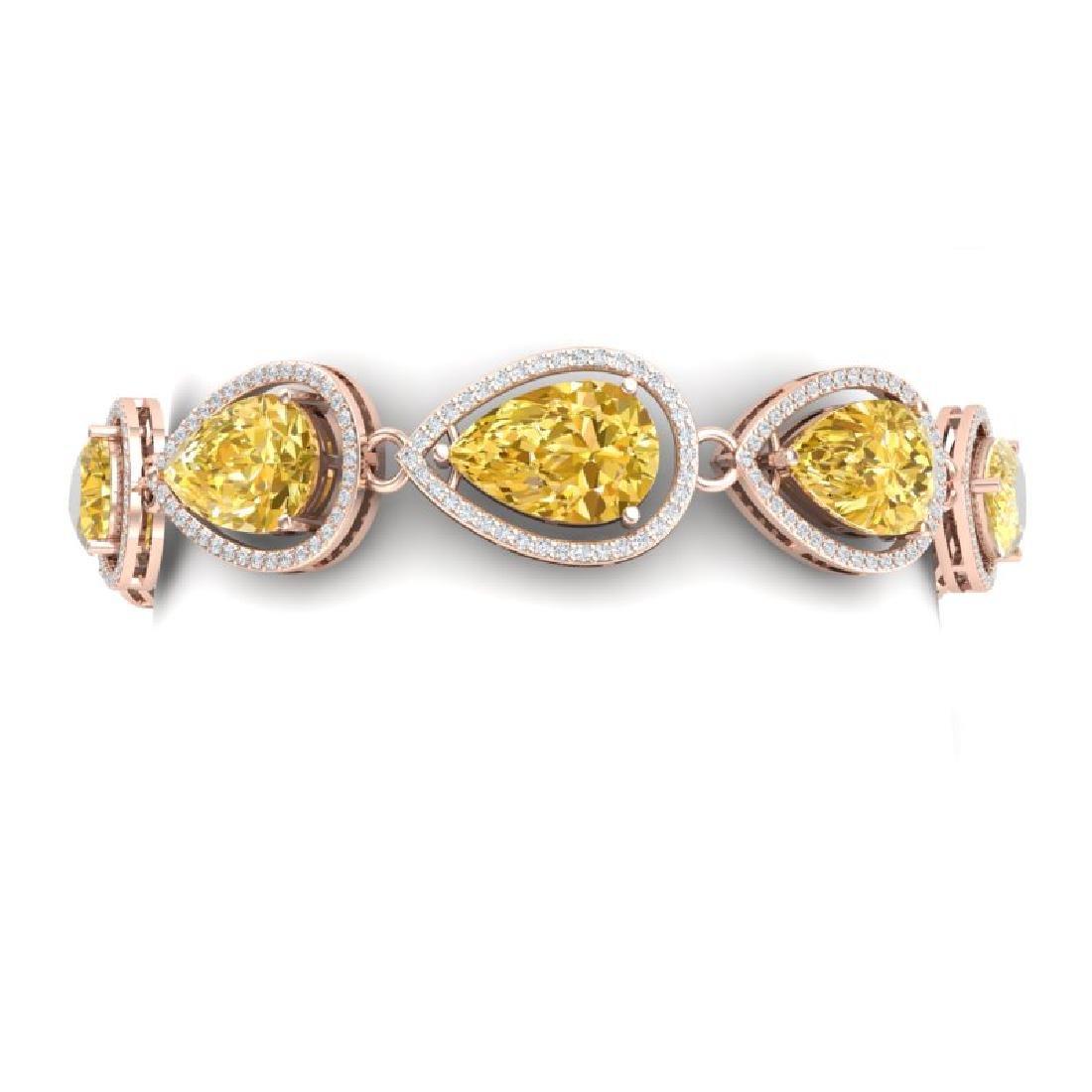 21.47 CTW Royalty Canary Citrine & VS Diamond Bracelet