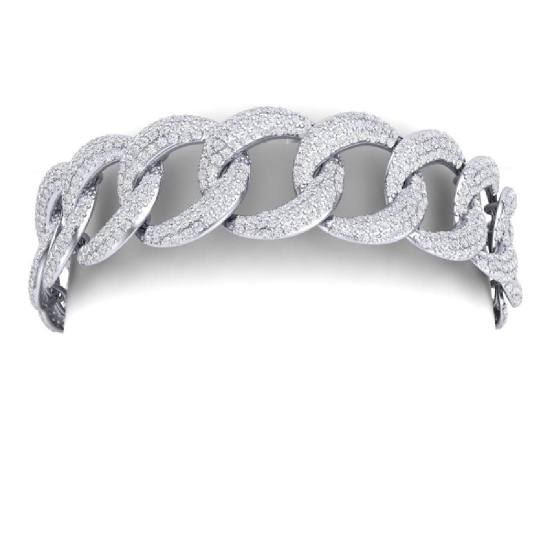 10 CTW Certified VS/SI Diamond Bracelet 18K White Gold - 2