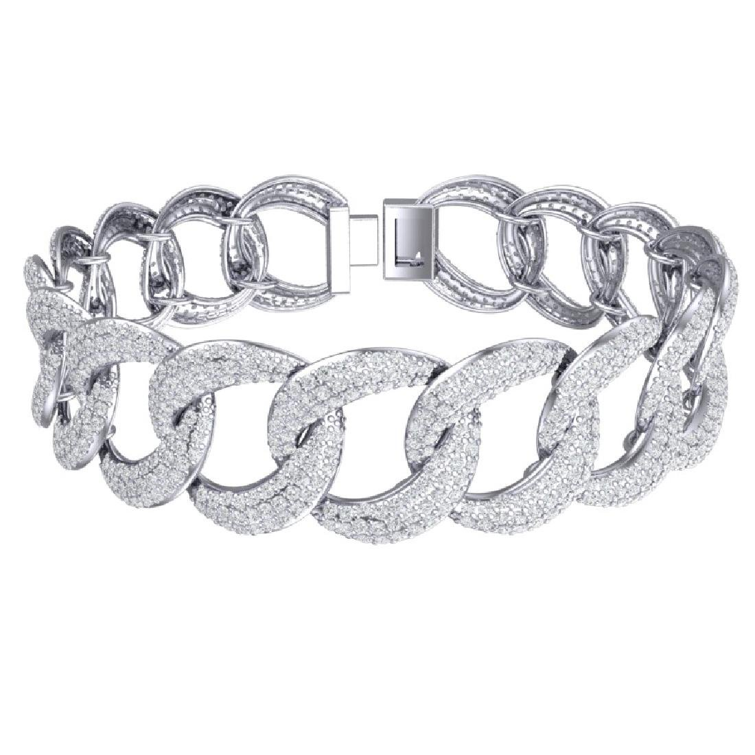 10 CTW Certified VS/SI Diamond Bracelet 18K White Gold - 3