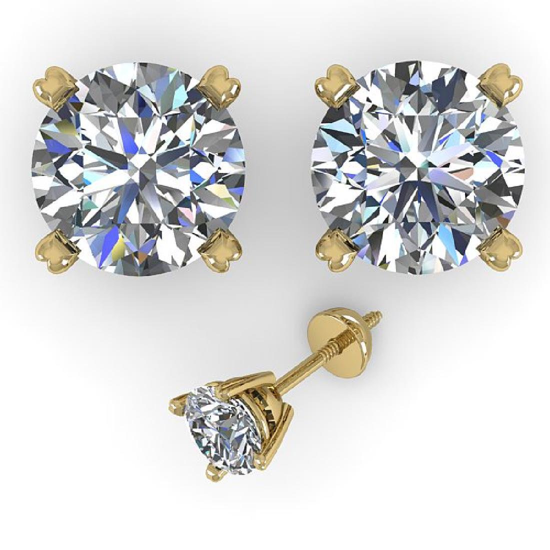 2.53 CTW Certified VS/SI Diamond Stud Earrings 14K - 2