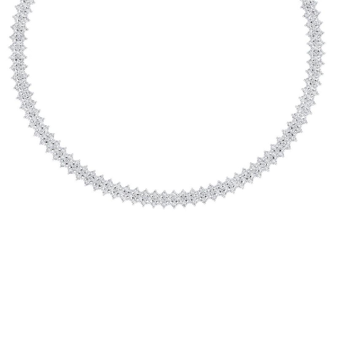 20 CTW Certified SI/I Diamond Necklace 18K White Gold