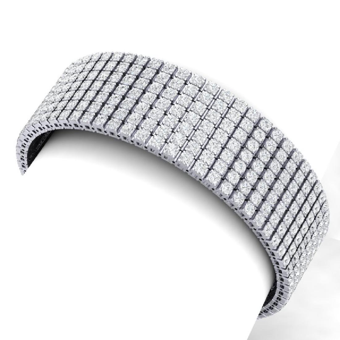 33 CTW Certified VS/SI Diamond Unisex 8 Inches Bracelet