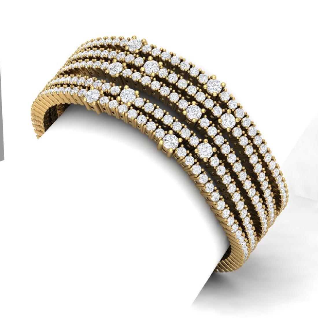 25 CTW Certified VS/SI Diamond Love Bracelet 18K Yellow