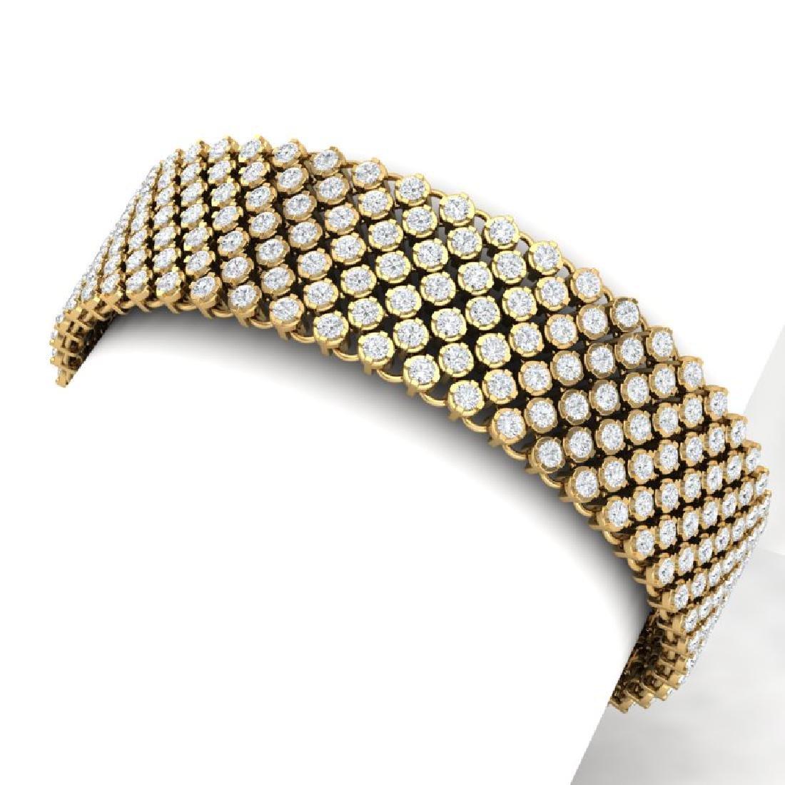15 CTW Certified VS/SI Diamond Bracelet 15K 18K Yellow