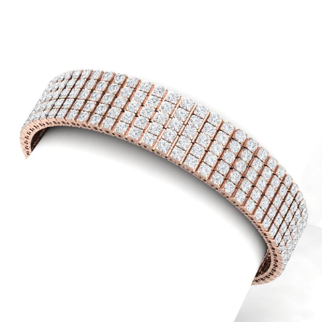 22 CTW VS/SI Diamond Unisex 8 Inches Bracelet 18K Rose