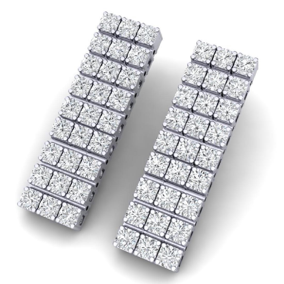 4 CTW Certified SI/I Diamond Earrings 18K White Gold