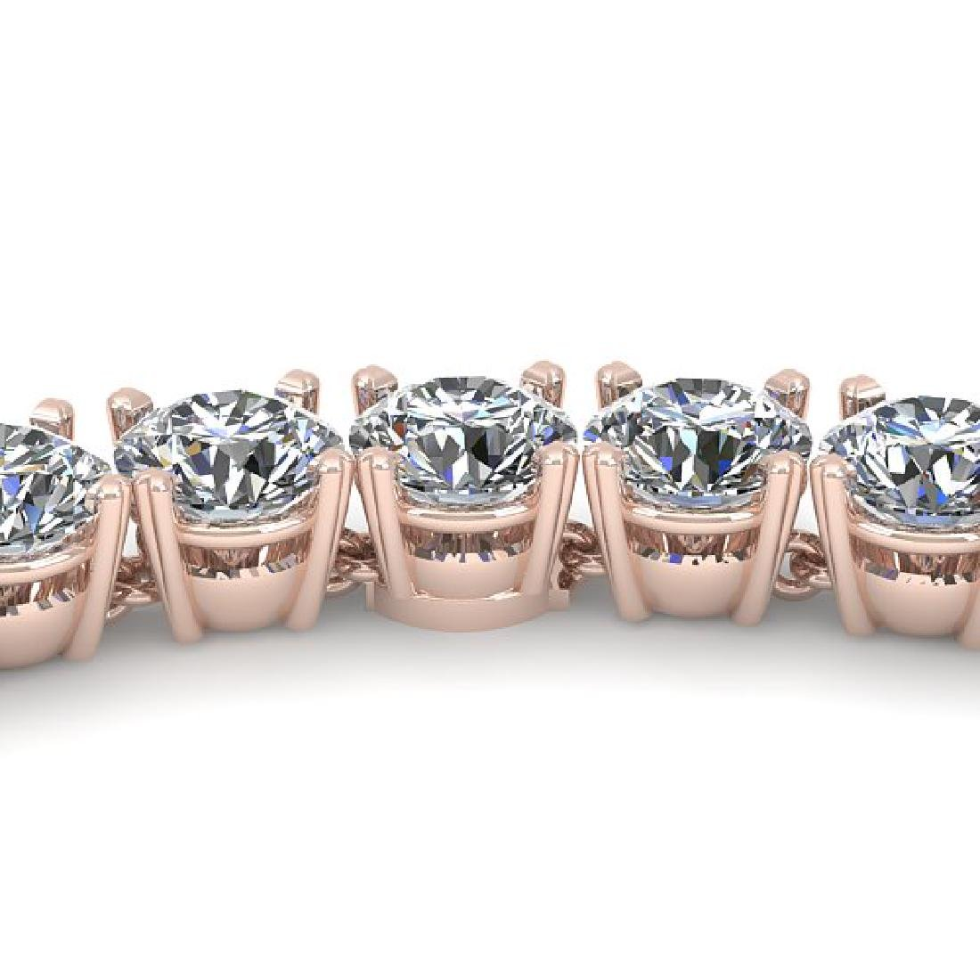 30 CTW Certified SI Diamond Necklace 14K Rose Gold