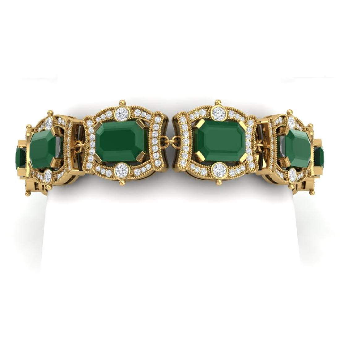 43.87 CTW Royalty Emerald & VS Diamond Bracelet 18K
