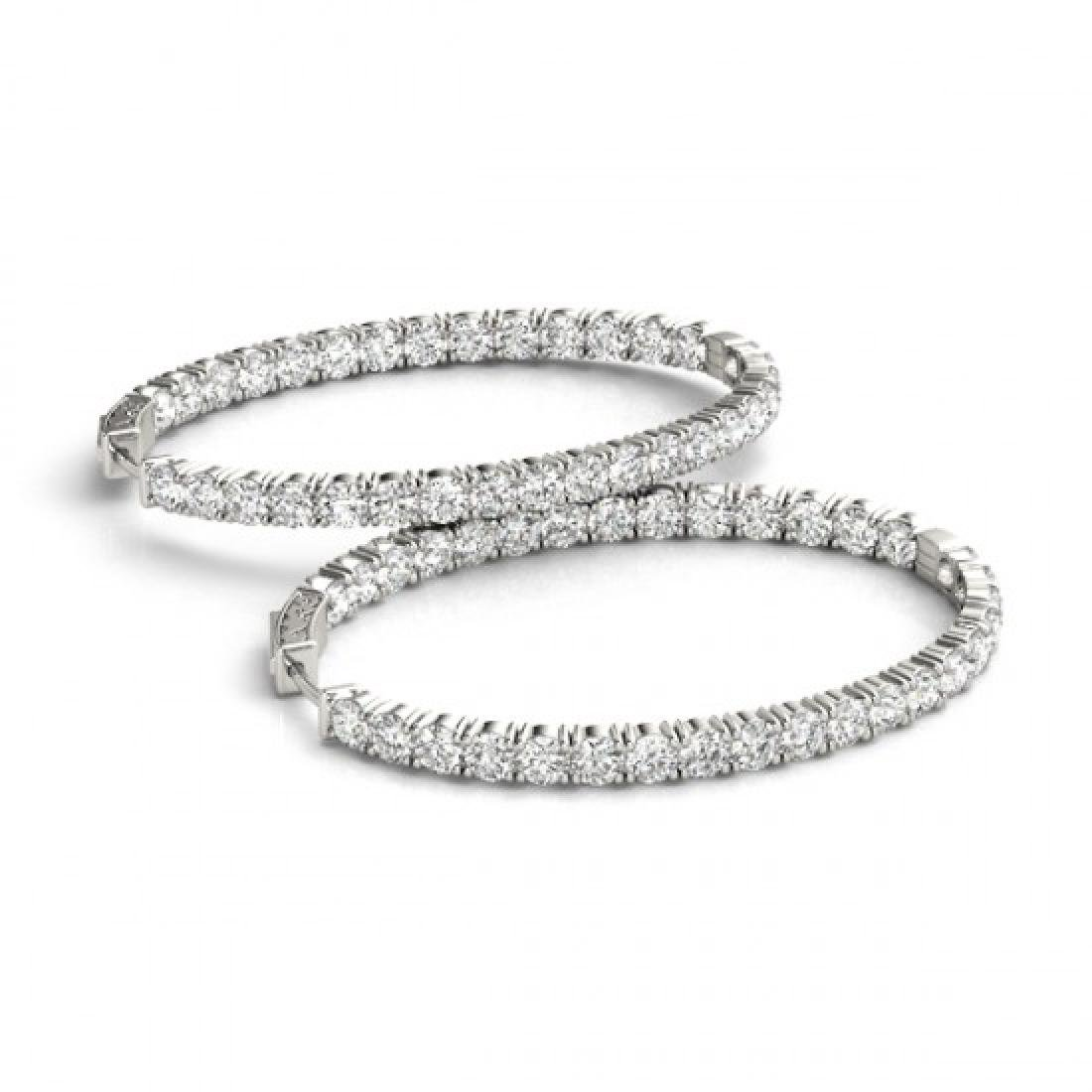 7 CTW Diamond VS/SI Certified 20 Mm Hoop Earrings 14K