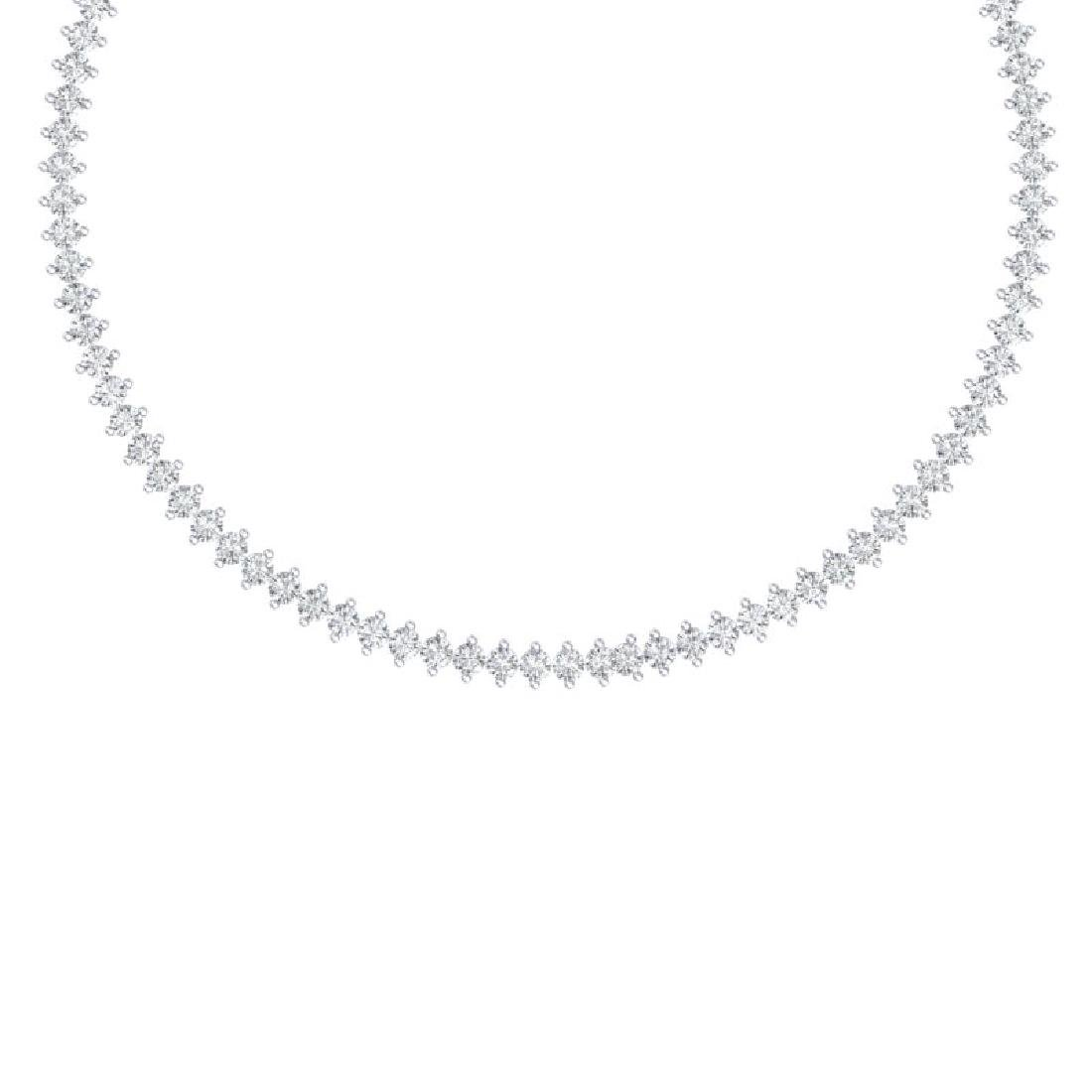 20 CTW Certified VS/SI Diamond Necklace 18K White Gold