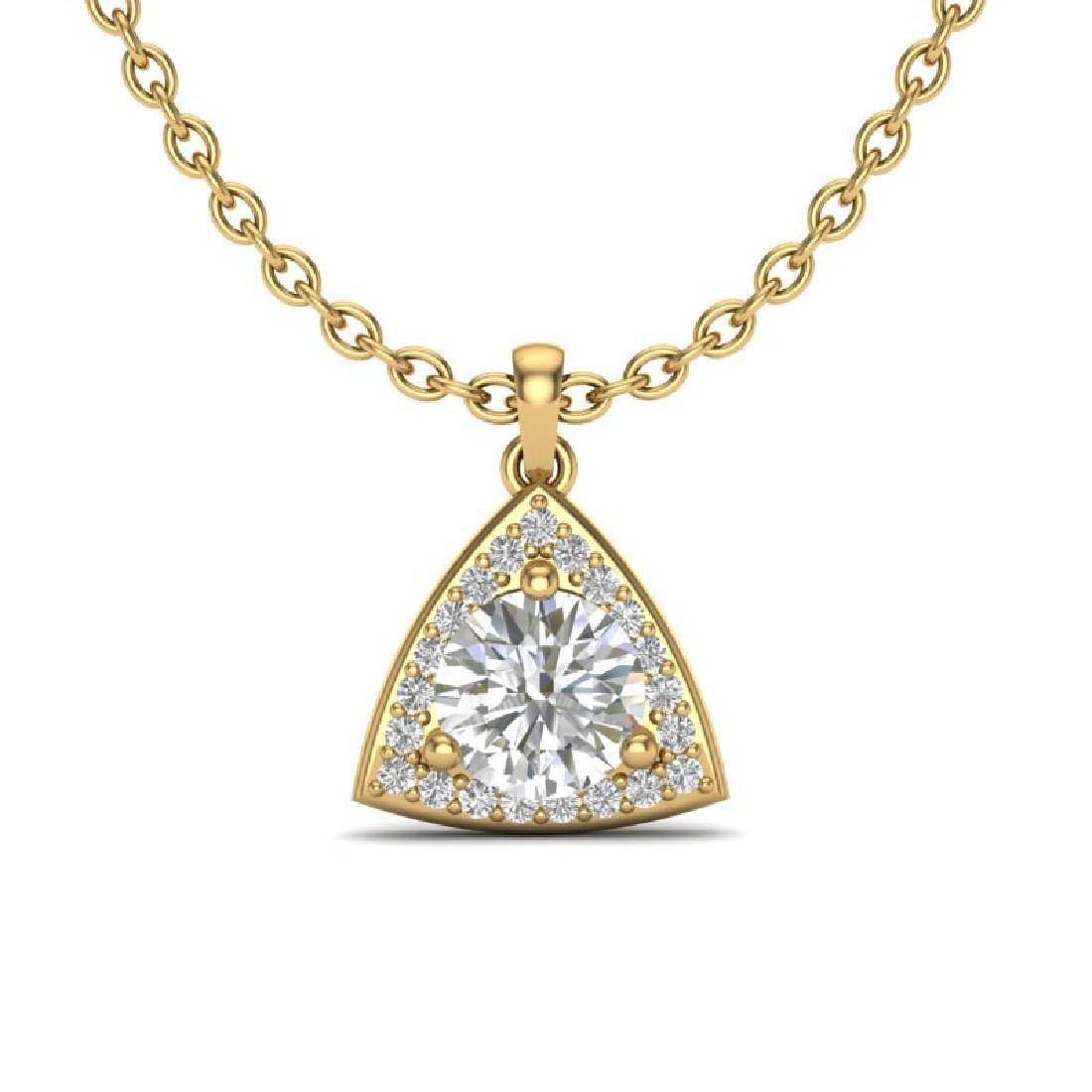 1.50 CTW VS/SI Diamond Necklace 18K Yellow Gold