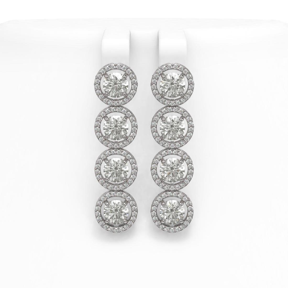 6.14 CTW Diamond Designer Earrings 18K White Gold