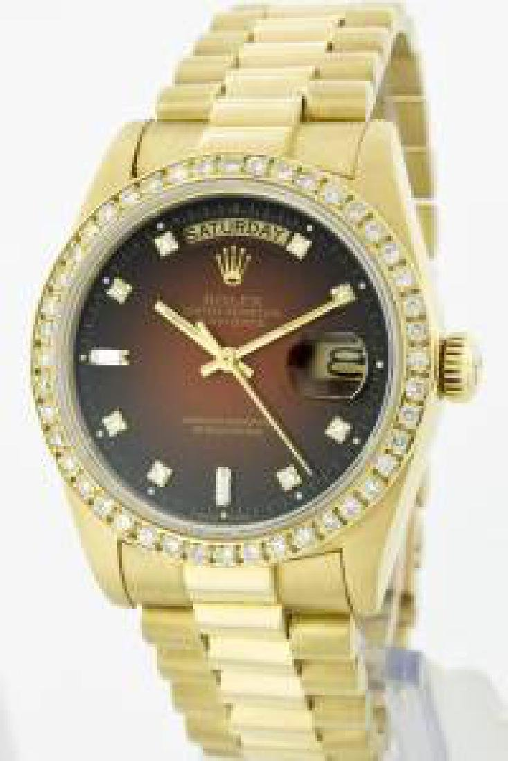 Rolex Men's 18K Yellow President, QuickSet, Diamond