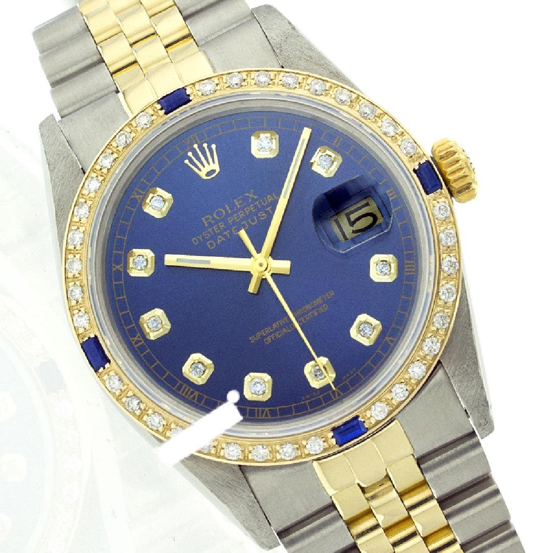 Rolex Ladies Two Tone 14K Gold/SS, Diam Dial &