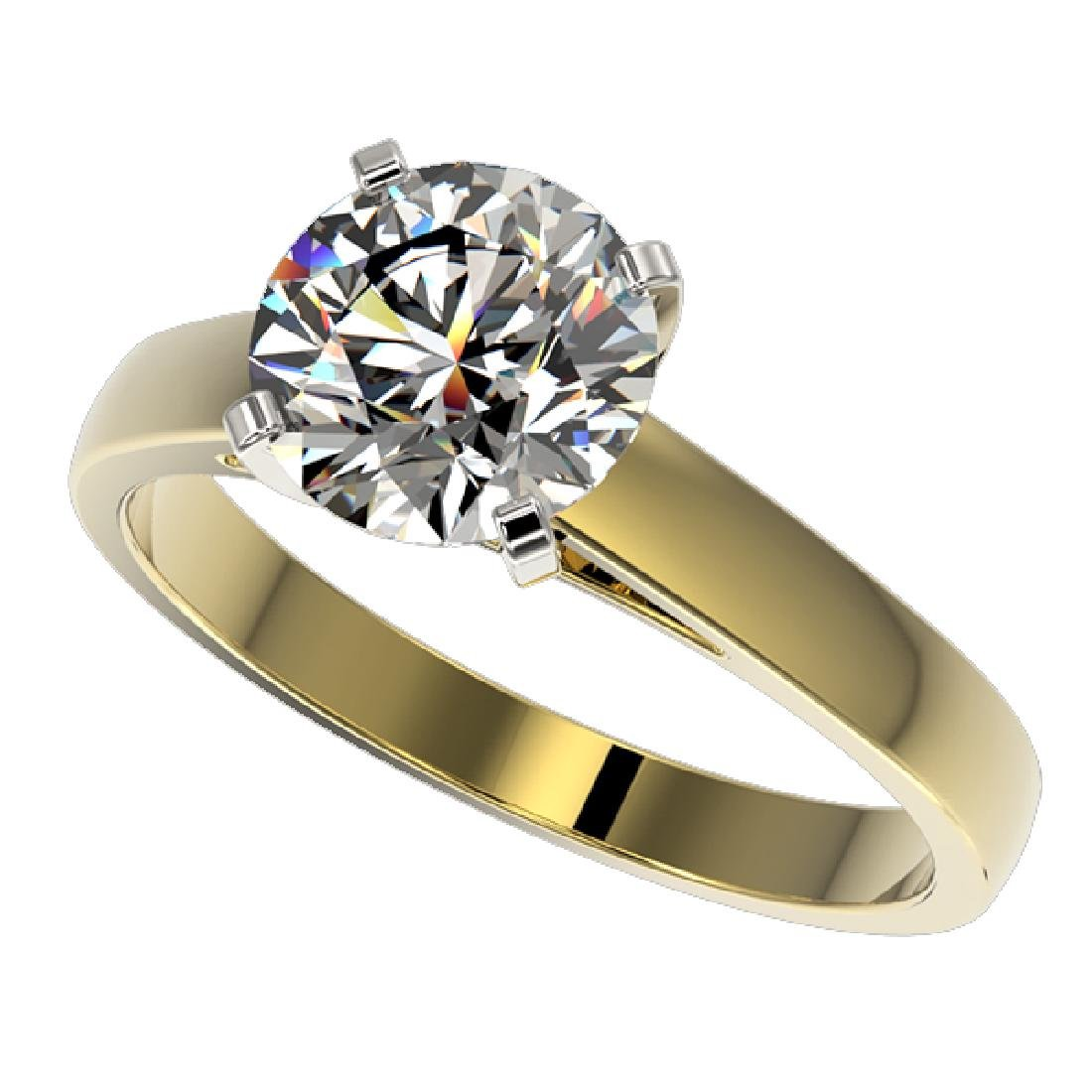 2.05 CTW Certified H-I Quality Diamond Solitaire Ring