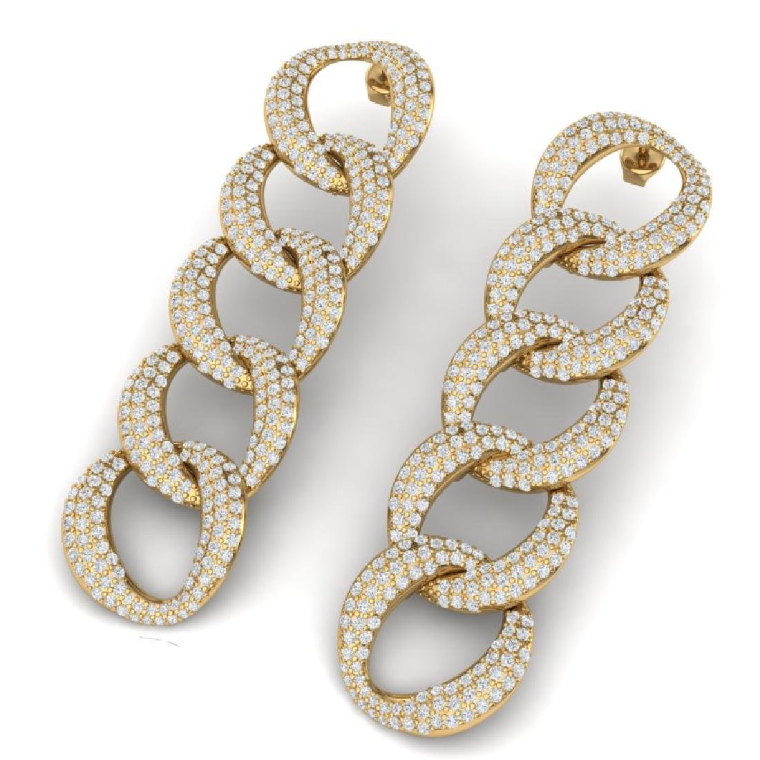5 CTW Certified VS/SI Diamond Earrings 18K Yellow Gold
