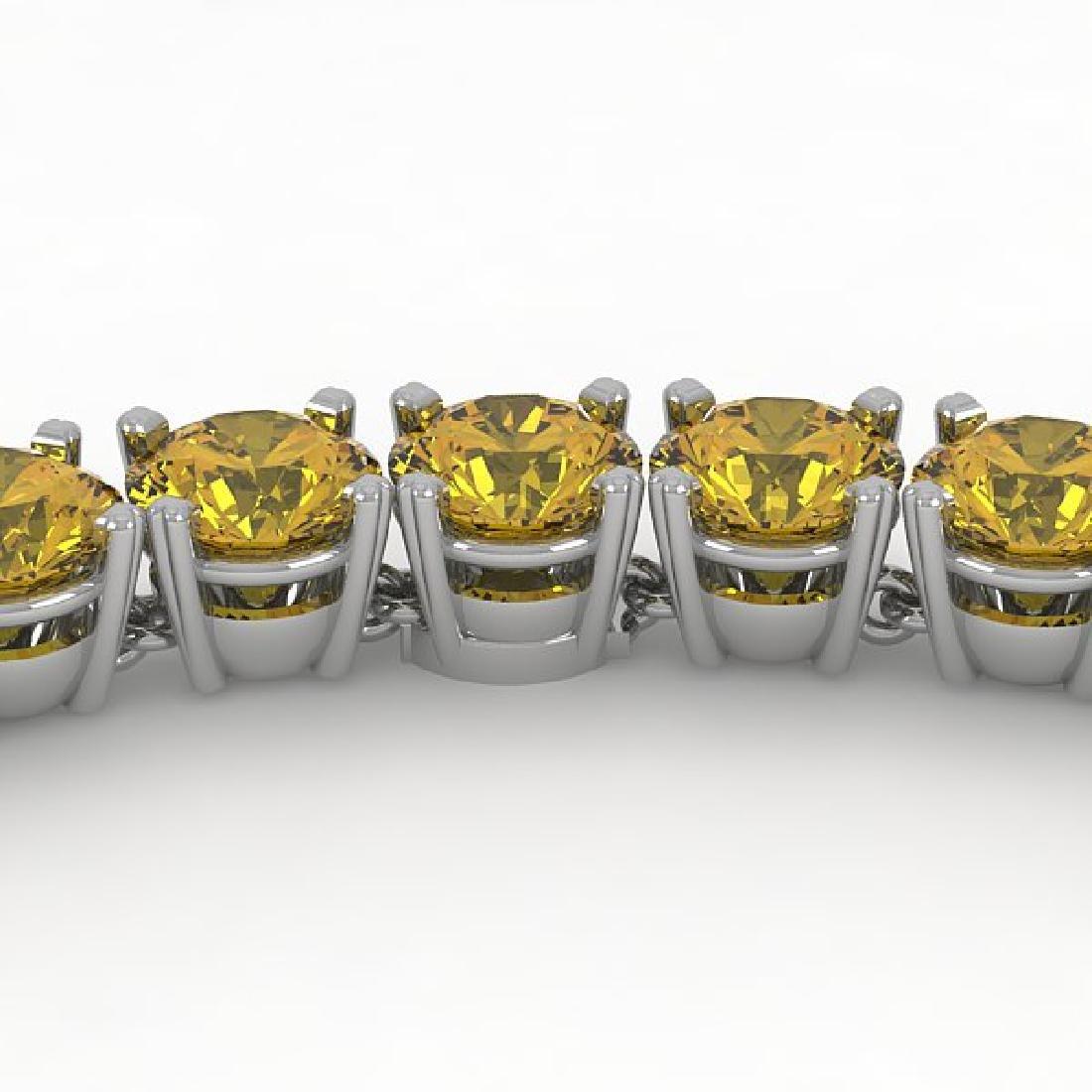 36 CTW Certified Fancy Yellow SI Diamond Necklace 14K