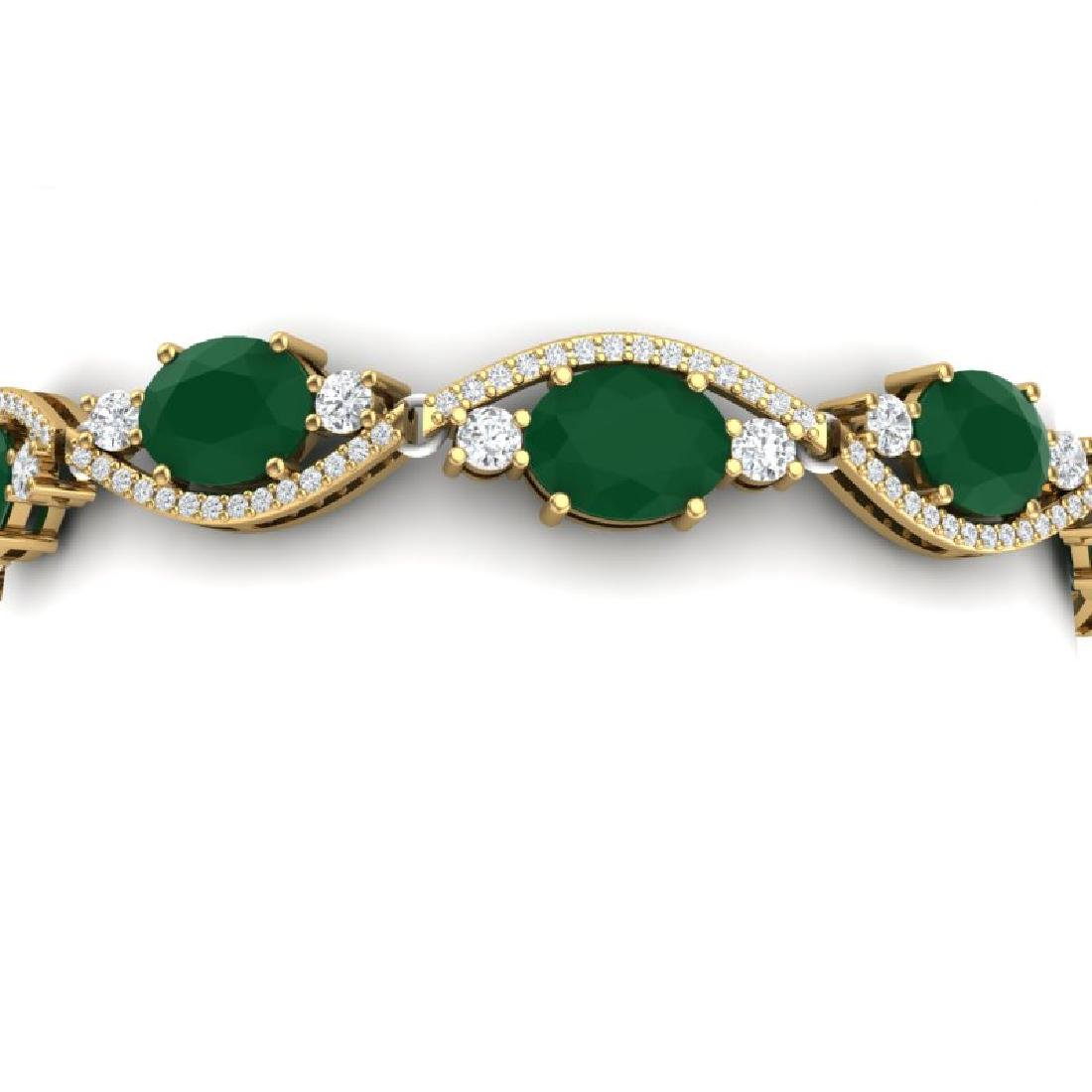 22.15 CTW Royalty Emerald & VS Diamond Bracelet 18K