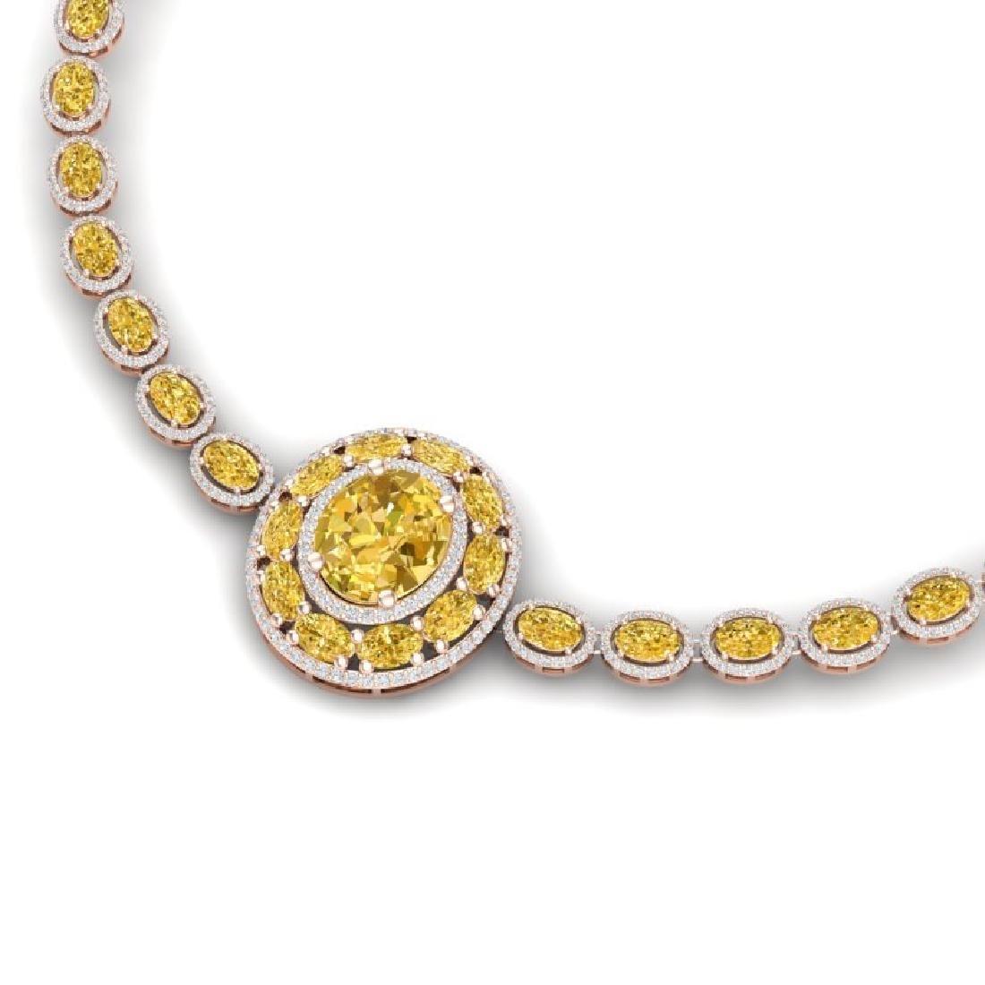 39.04 CTW Royalty Canary Citrine & VS Diamond Necklace