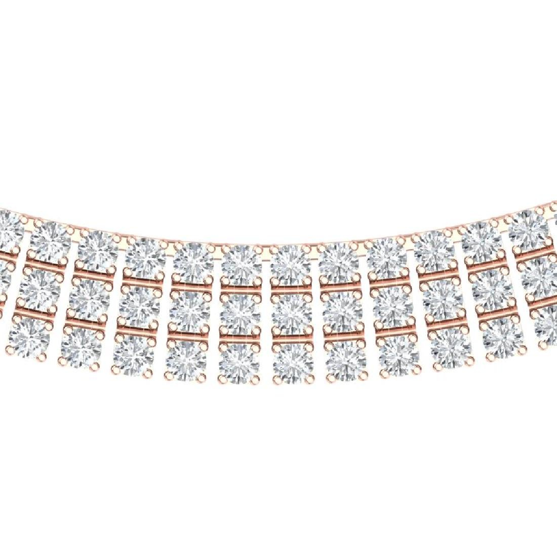 30 CTW Certified SI/I Diamond Necklace 18K Rose Gold