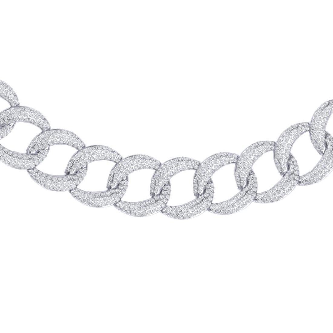 22 CTW Certified VS/SI Diamond Necklace 18K White Gold