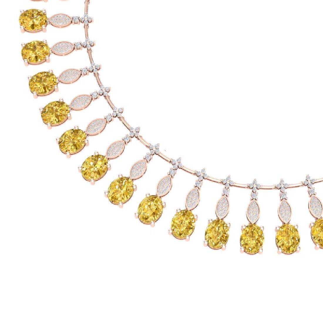 50.16 CTW Royalty Canary Citrine & VS Diamond Necklace