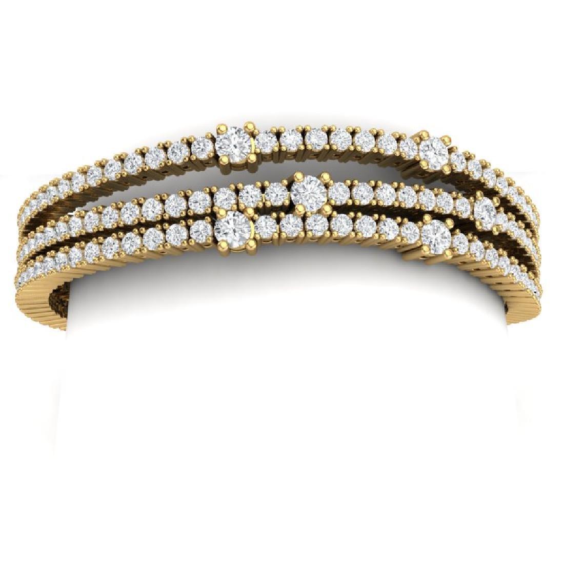 15 CTW Certified VS/SI Diamond Love Bracelet 18K Yellow