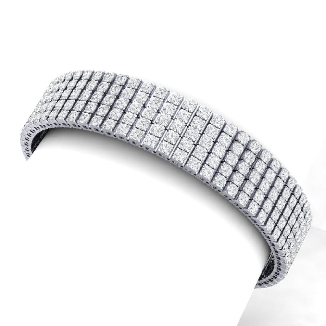 20 CTW Certified VS/SI Diamond Bracelet 18K White Gold