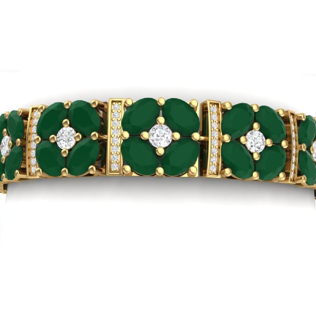48.04 CTW Royalty Emerald & VS Diamond Bracelet 18K