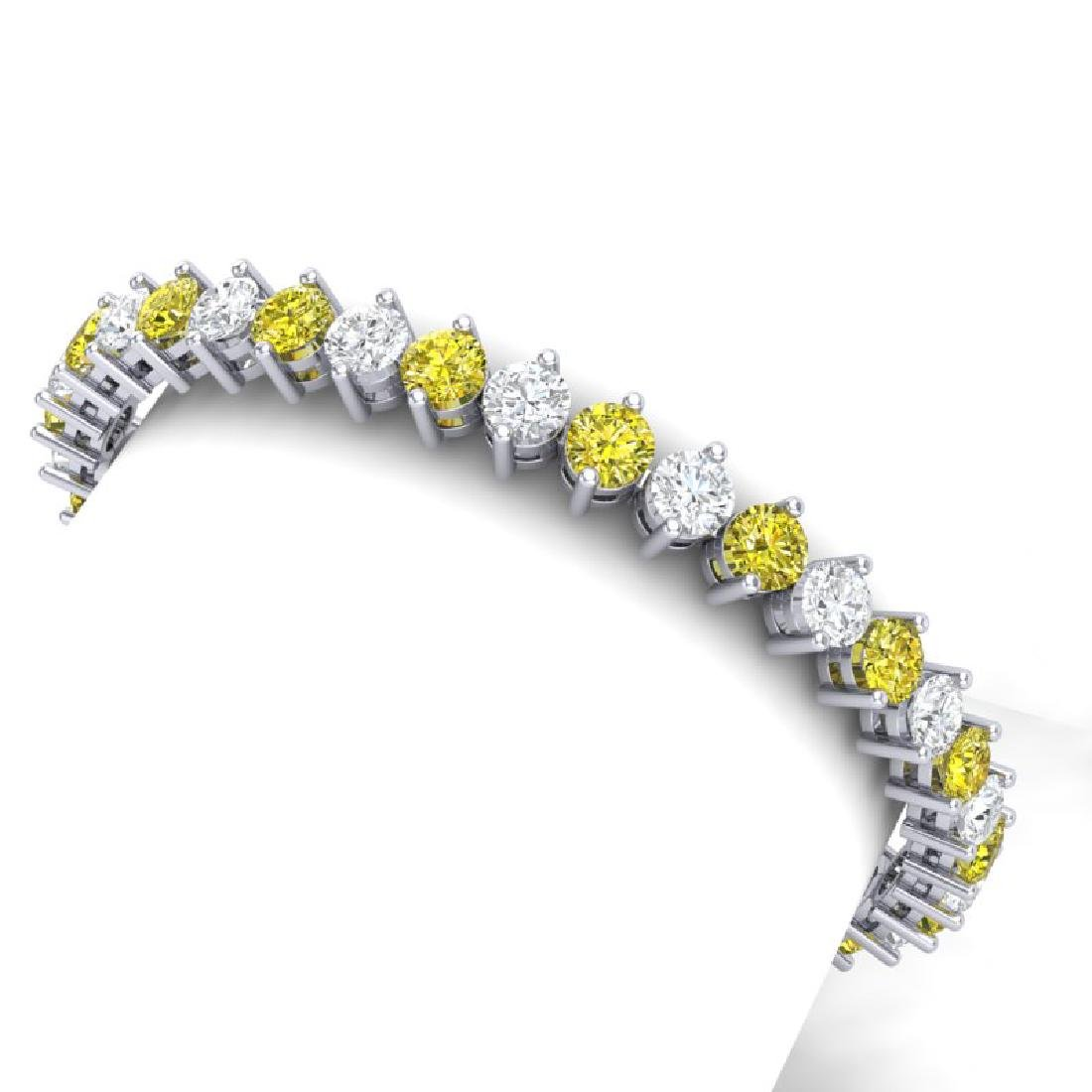 20 CTW SI/I Fancy Yellow & White Diamond Bracelet 18K