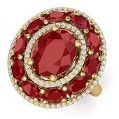 805 CTW Royalty Designer Ruby  VS Diamond Ring 18K
