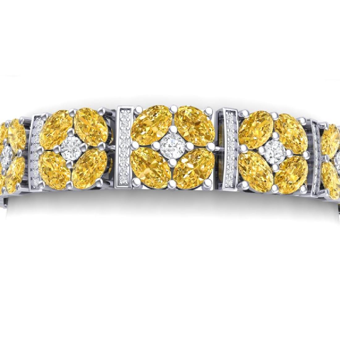 28.95 CTW Royalty Canary Citrine & VS Diamond Bracelet