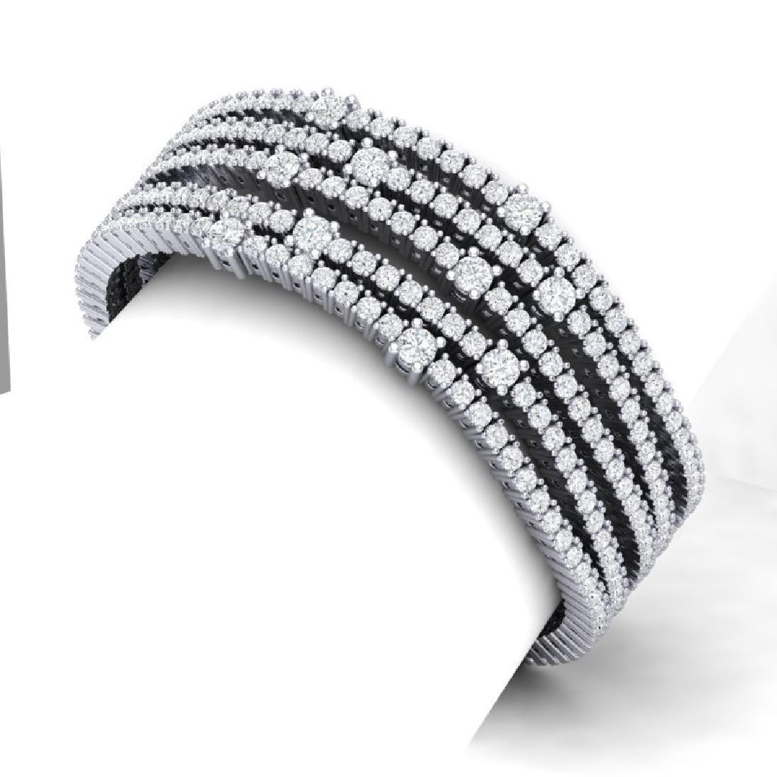 25 CTW Certified VS/SI Diamond Love Bracelet 18K White