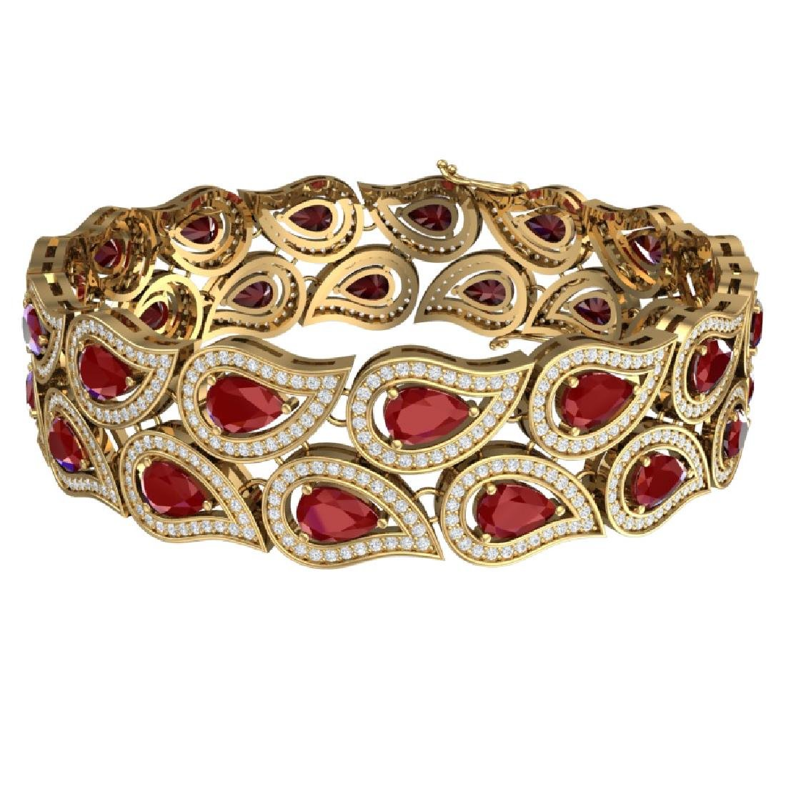 20.1 CTW Royalty Designer Ruby & VS Diamond Bracelet - 3