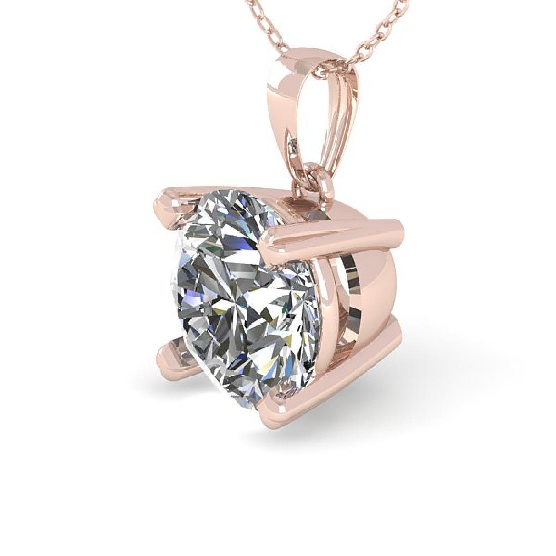 2 CTW Certified VS/SI Diamond Necklace 18K Rose Gold