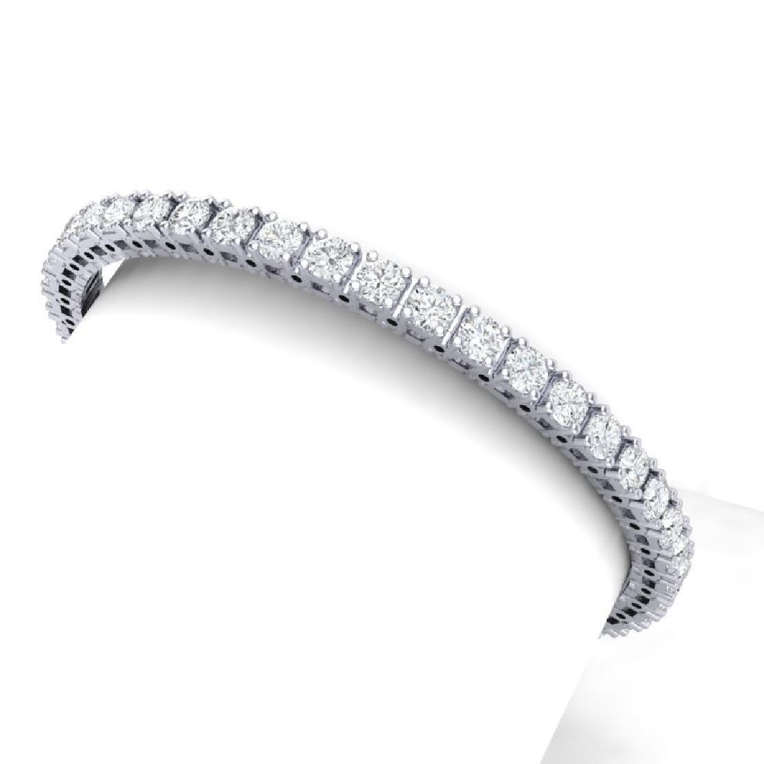 10 CTW Certified VS/SI Diamond Bracelet 18K White Gold