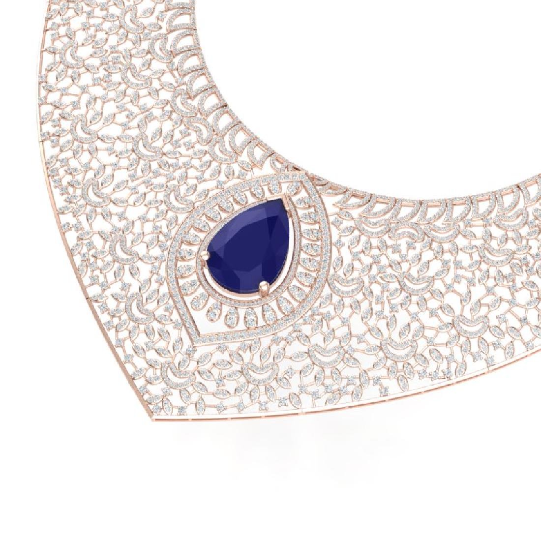 63.93 CTW Royalty Sapphire & VS Diamond Necklace 18K