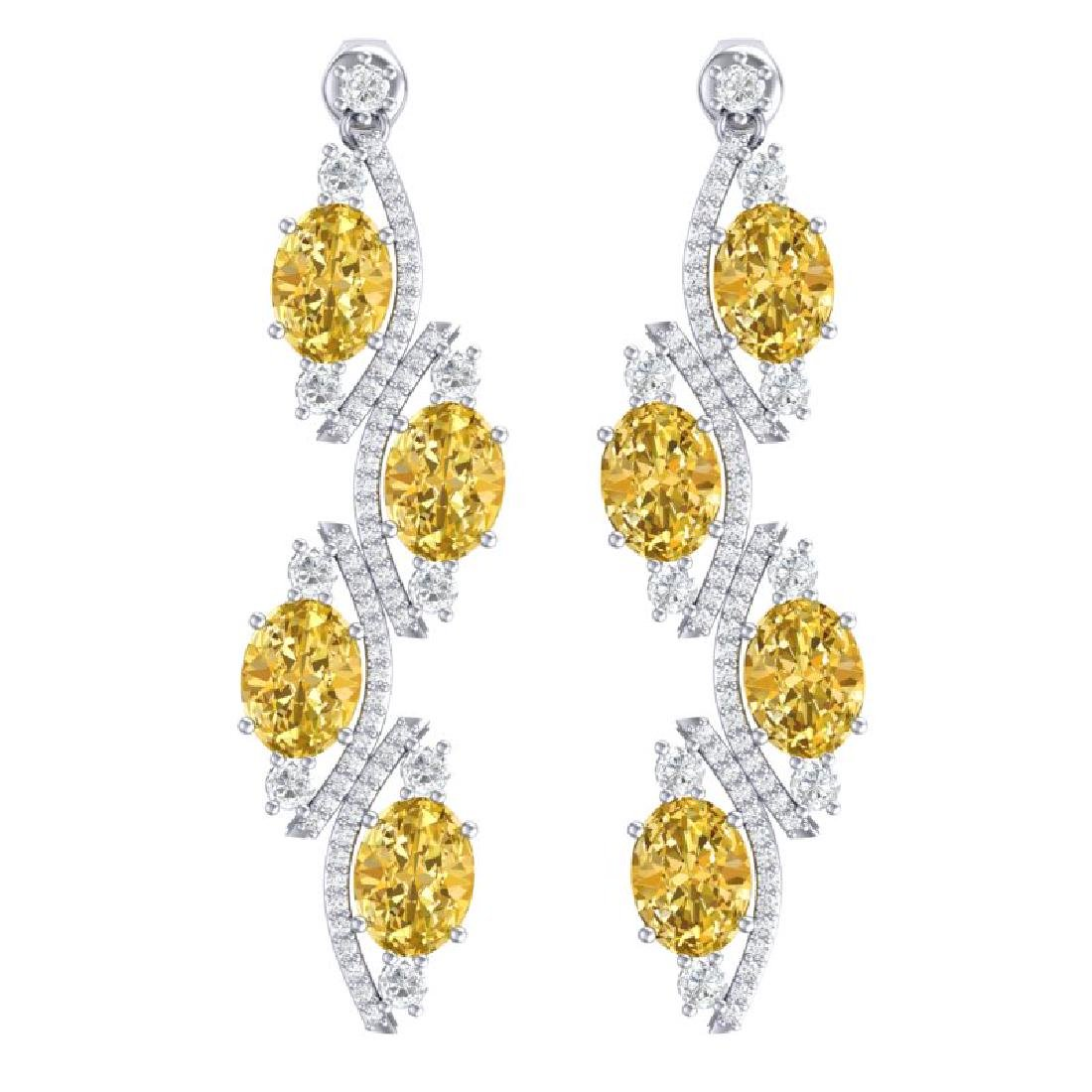 13.32 CTW Royalty Canary Citrine & VS Diamond Earrings