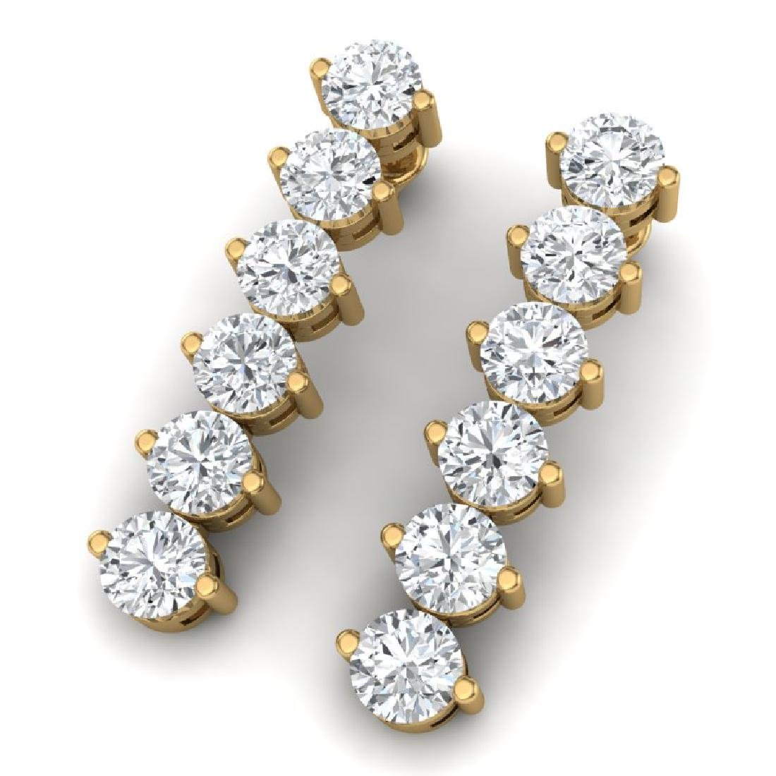 6 CTW Certified SI/I Diamond Earrings 18K Yellow Gold