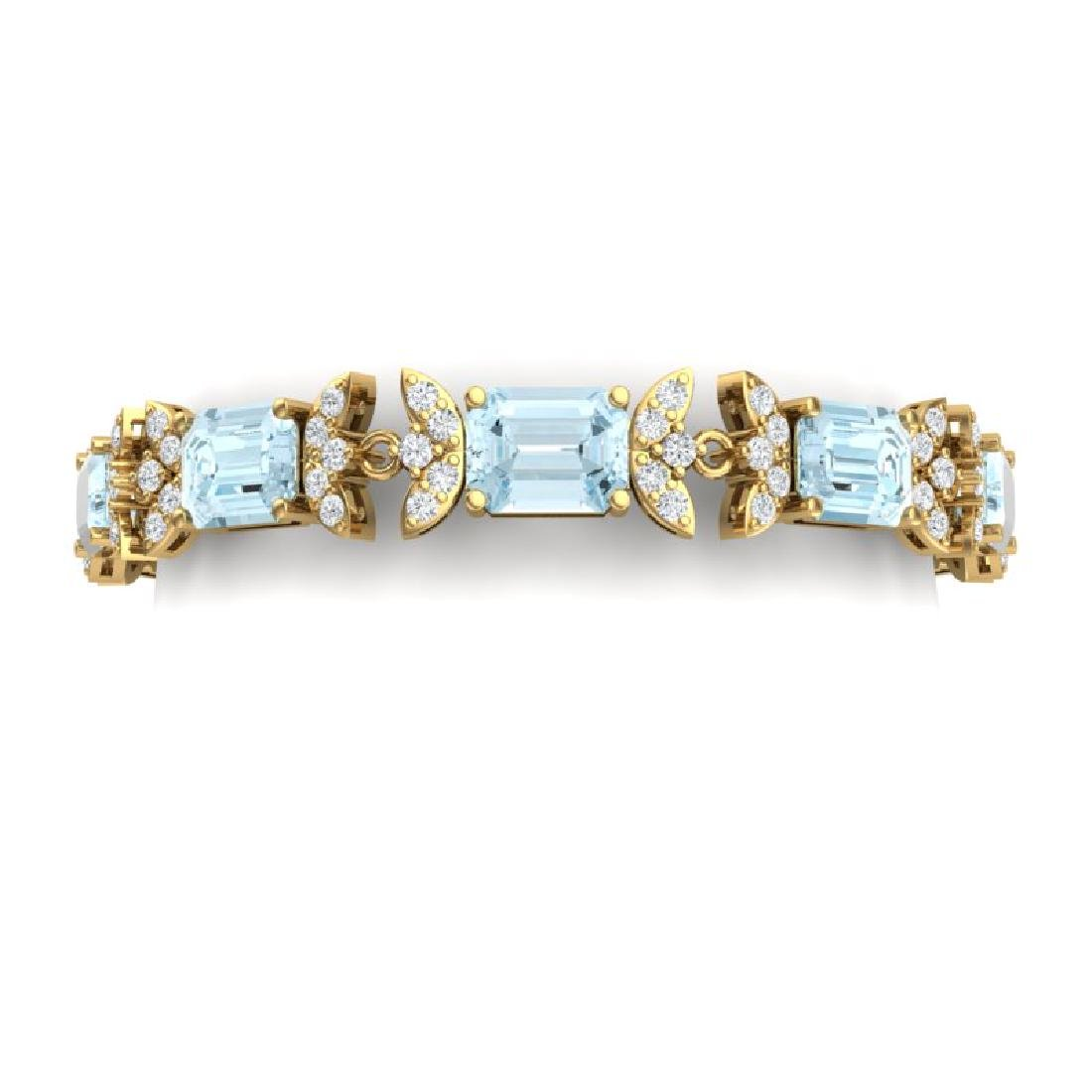 39.65 CTW Royalty Sky Topaz & VS Diamond Bracelet 18K