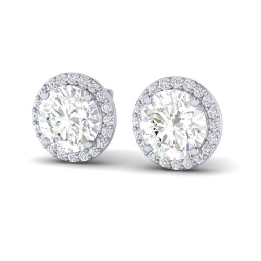 3.50 CTW VS/SI Diamond Earrings 18K White Gold