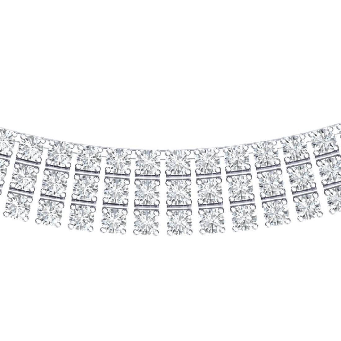 30 CTW Certified SI/I Diamond Necklace 18K White Gold