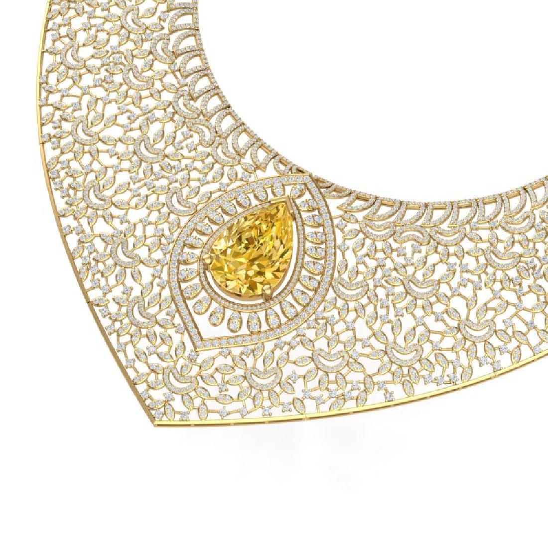 59.27 CTW Royalty Canary Citrine & VS Diamond Necklace